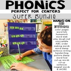 This phonics bundle is packed with hands-on activities that can be easily differentiated for your students! This bundle is discounted a great deal compared to buying every unit! Short Vowel CVC Long Vowel Silent e L Consonant Blends R Consonant Blends Jolly Phonics, Teaching Phonics, Teaching Reading, Teaching Ideas, First Grade Activities, Spelling Activities, Hands On Activities, P Words List, Read Write Inc