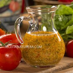 Molho Caseiro Para Salada - Receita Natureba Pesto, Healthy Breakfast Muffins, Salad Dressing, Easy Cooking, Clean Eating, Food And Drink, Low Carb, Healthy Recipes, Homemade