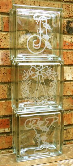 How to create Faux-etched glass blocks. Also, how to make a font into bold when that's not one of the options of the particular font style.