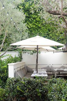 outdoor cushion - white & gray