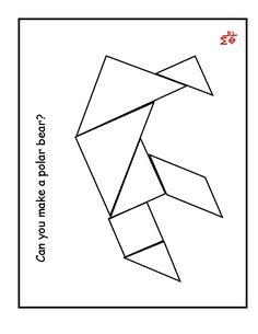 pattern block polar bear template