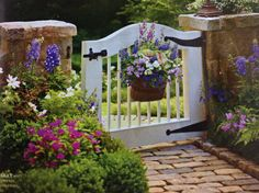 It would be fun to have a garden gate like this one I saw in Southern Living magazine.