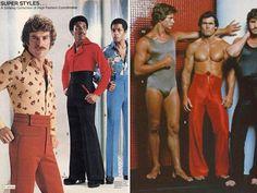 Mens Fashion Night Out 80s Fashion Men, Seventies Fashion, Fashion Night, Retro Fashion, Vintage Fashion, Fashion Outfits, Fashion Trends, Men's Fashion, Funny Fashion