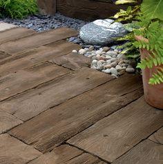 Wood Grain Concrete Pavers On Your Garden