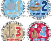 Anchor month stickers for pictures.  (Just got these and they are perfect!)