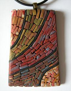 Mini Mosaic Pendant Southwest. Mexican Hat Utah.  by patibannister