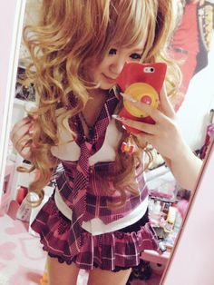 Agejo Gyaru Gyaru Fashion, Harajuku Fashion, Kawaii Fashion, Pink Fashion, Soft Grunge Hair, Hello Kitty Dress, Japanese Aesthetic, Princess Girl, Cute Japanese