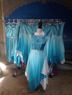 River Flowing Aprons $75 Praise Dance Wear, Praise Dance Dresses, Worship Dance, Dance Gear, Dance Pants, Belly Dancer Costumes, Dance Costumes, Jj Dresses, Garment Of Praise