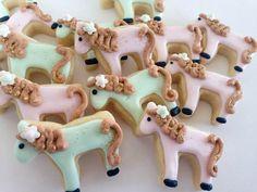 Shabby Chic Pony Mini Sugar Cookies-2 Dozen