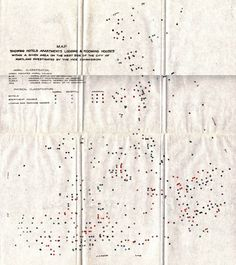 The 1913 report on vice in Portland resulted in this map assigning a different color to varying degrees of immorality at hotels, apartments, and boarding houses.  Click image to enlarge. (via BigThink.com)