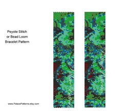 Van Gogh Inspired Bracelet Pattern Peyote Stitch by PalacePatterns