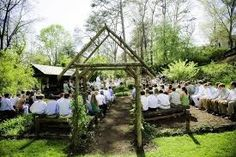 ceremony for an outdoor wedding