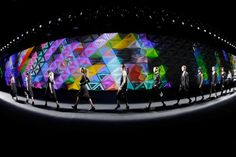 Y-3's New York Fashion Week Runway Projections Were A Colorful, Triangulated Masterpiece | The Creators Project