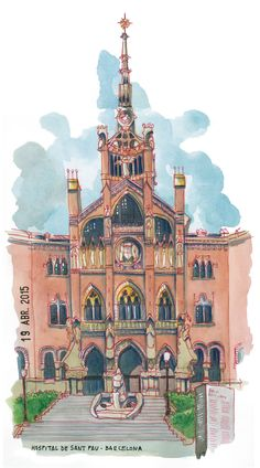 https://flic.kr/p/sd3pCi | santi salles. ilustracion sant pau, barcelona