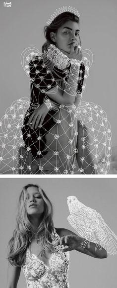 Propolus Treats Serious Fashion Photos with Lighthearted Doodles Dr. Propolus Treats Serious Fashion Photos with Lighthearted Doodles,witchy Drawings by Dr. Fashion Art, Foto Fashion, Fashion Collage, Editorial Fashion, Trendy Fashion, Drawing Fashion, Street Fashion, High Fashion, Fashion Design