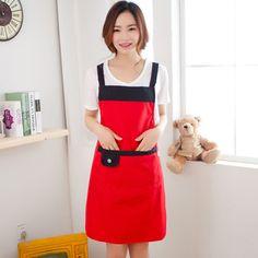 La edición de Han historieta linda cocina lleva manga larga delantal impermeable 16