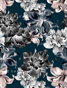 Liz Casella - painted floral print
