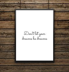 "Affiche illustration Typographie ""Don't let..."""