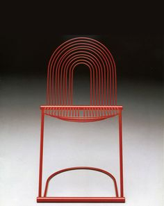 Jutta &Herbert Ohl, chair Swing, 1982. Metal. For Rosenthal, Germany.