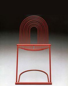 Jutta &Herbert Ohl, chair Swing, 1982. Metal. For Rosenthal, Germany.