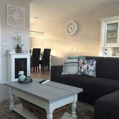 Mijn eigen interieur! Home sweet home! Mint, riverdale, landelijk, sierkussens, steigerhout, brocante, haard!