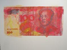 David Lawrence / found on www.kunzt.gallery / The RMB Series #3, 2012 / Serigraph