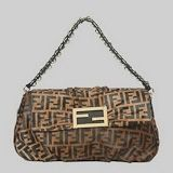 Fendi First Choice for The Season 2296 F letters brown hairs noble single shoulder bag