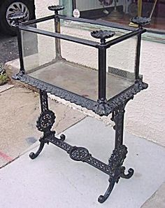 antique fish tank stand