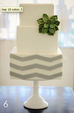 succulent on a chevron wedding #cake