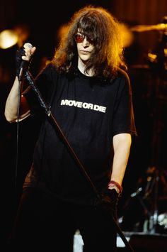 Joey Ramone Performing in Concert