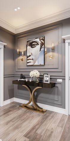 Home Room Design, Interior Design Living Room, Living Room Designs, Living Room Decor, Interior Decorating, House Design, Luxury Interior Design, Wall Design, Hallway Designs