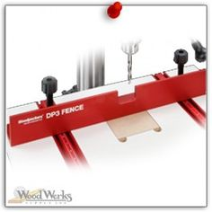 Woodpeckers Drill Press Fence - One of the most requested items for our popular Drill Press Table is a tall fence for supporting stock on edge. This is particularly helpful when drilling out mortises. woodwerks.com #woodworking #woodpeckers