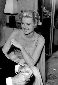 Grace Kelly on the set of 'To Catch a Thief'