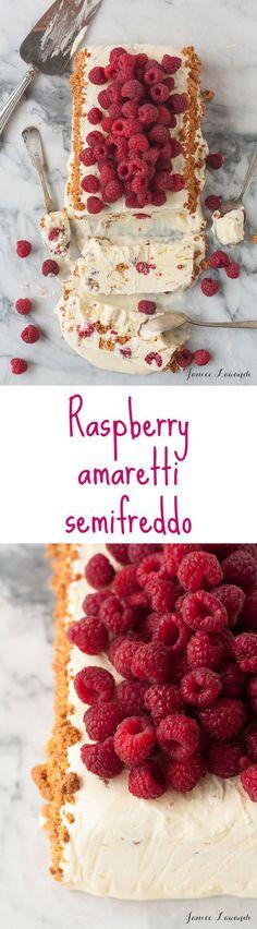 Raspberry Amaretto Semifreddo #Recipe