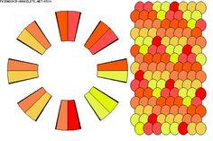 Kumihimo ombre diamond 16 strand pattern
