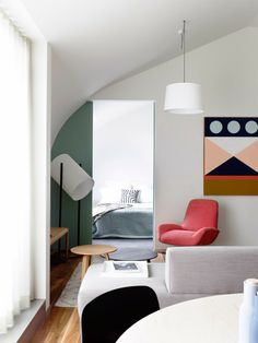 Interiors: Nice colors in Melbourne Apartment! | Art And Chic