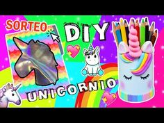 DIY DECORA TUS ÚTILES DE UNICORNIO / MEGA SORTEO - Ingenio KD - YouTube