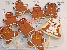 Personalized Gingerbread Family by Rollin' in Dough, Christmas 2014, Family Christmas, Baby Games, Gingerbread Cookies, Decorating, Desserts, People, Food, Gingerbread Cupcakes