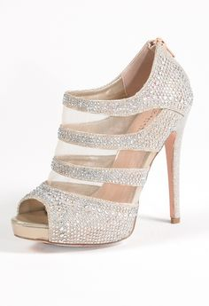 b579d2a3af84 High Heel Mesh Open Sandal with Back Zipper from Camille La Vie and Group  USA Prom