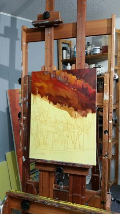 Using large brush with washes. Mirror, Table, Painting, Furniture, Home Decor, Mirrors, Painting Art, Tables, Home Furnishings
