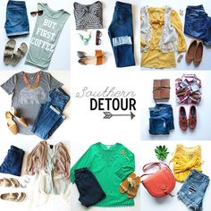 Flatlay outfits @southern.detour