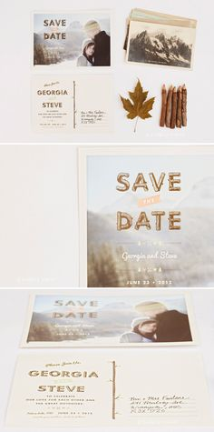 Save The Date by One Plus One Design