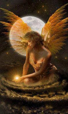 A fairy enjoying the moonlight ~ Fantasy Photo ~ Fairy Dust, Fairy Land, Fairy Tales, Angels Among Us, Angels And Demons, Fantasy World, Fantasy Art, Fantasy Fairies, Halloween Imagem