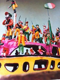 Detail of Charles Eames photograph of folk art in the collection of Alexander Girard, from the book, MAGIC OF A PEOPLE