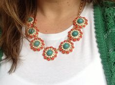 $36 Coral and Turquoise Necklace Set