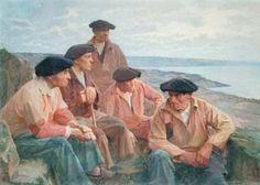 "Henri Royer, ""Devant la grande mer, Cap Sizun, Plogoff"""