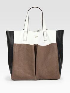 Anya Hindmarch  Raw Nevis Tri-Color Bag