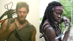 The two best characters on the walking dead Daryl michonne