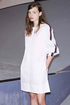 love this See by Chloe dress. the piping on the sleeve is so sporty
