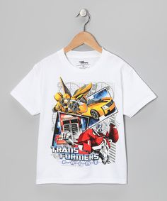 Love this White 'Transformers Prime' Tee - Kids by Transformers on #zulily! #zulilyfinds